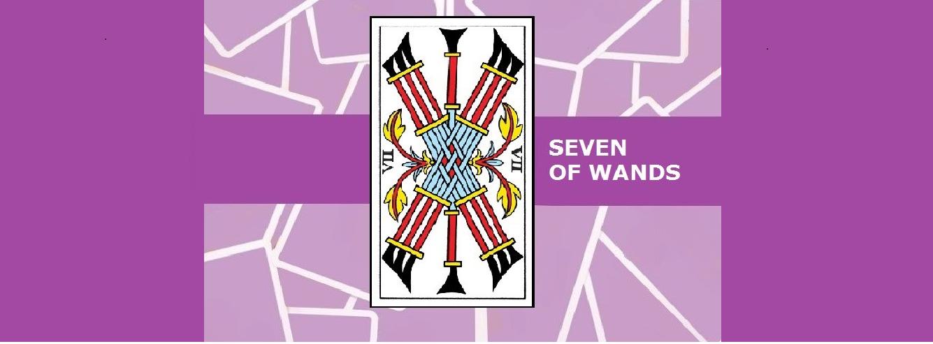 Seven of Wands Tarot Card