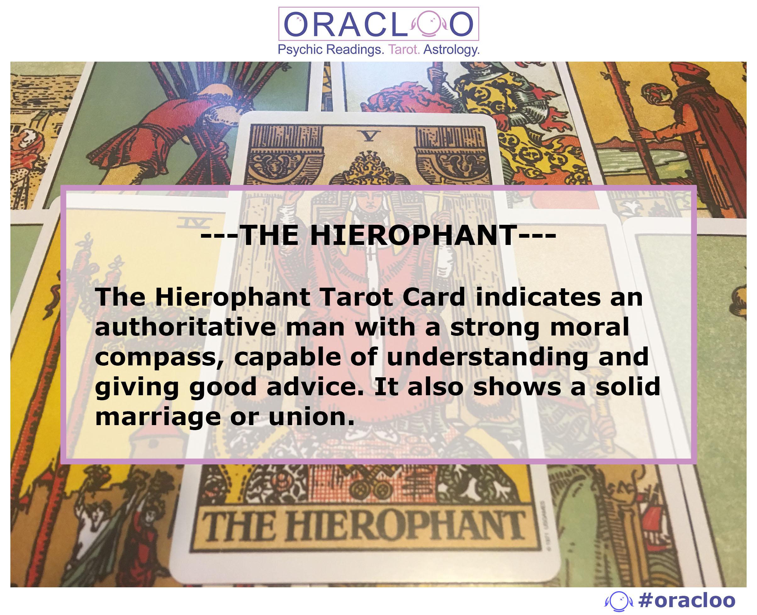 Hierophant tarot card