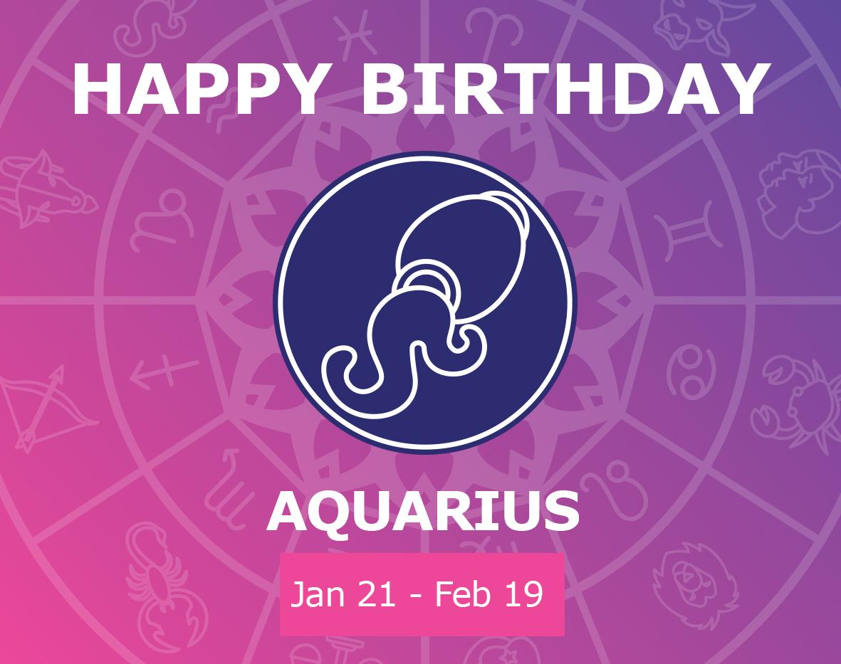 Oracloo Happy Birthday Aquarius